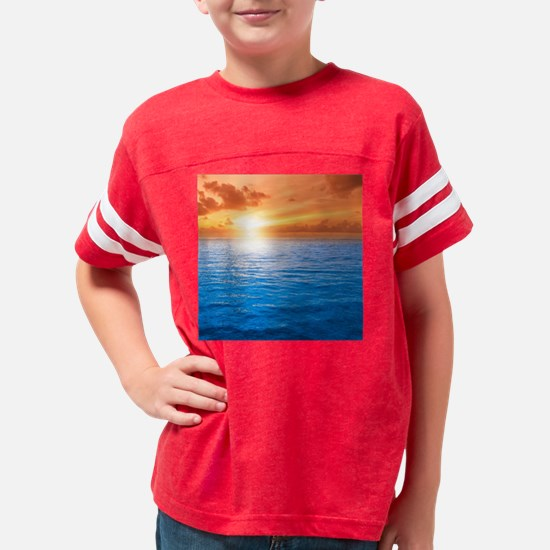 Ocean Sunset Youth Football Shirt