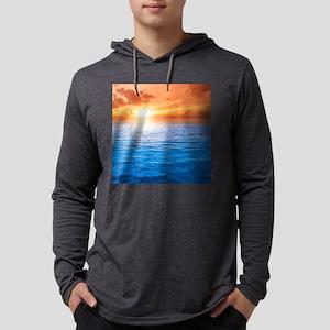 Ocean Sunset Mens Hooded Shirt