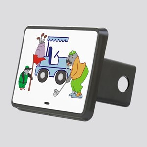 Playing Golf Rectangular Hitch Cover