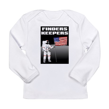 Finders Keepers Lunar Landing Funny T-Shirt Long S