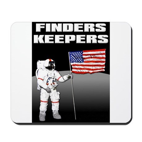 Finders Keepers Lunar Landing Funny T-Shirt Mousep