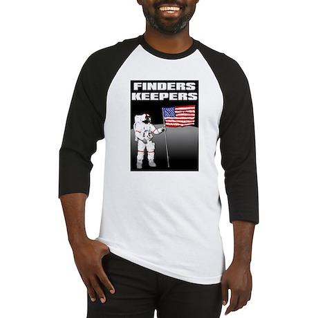 Finders Keepers Lunar Landing Funny T-Shirt Baseba
