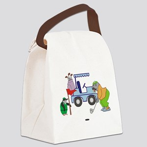 Playing Golf Canvas Lunch Bag