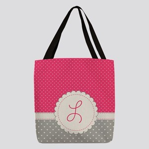Cute Monogram Letter L Polyester Tote Bag