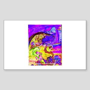 Mermaid Violet Bliss Rectangle Sticker