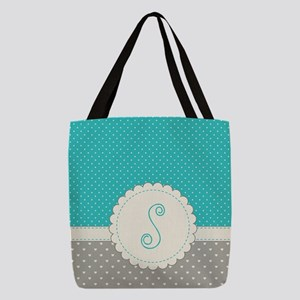 Cute Monogram Letter S Polyester Tote Bag