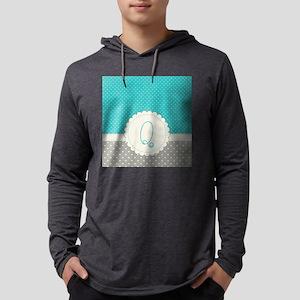 Cute Monogram Letter Q Mens Hooded Shirt