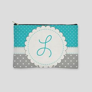 Cute Monogram Letter L Makeup Pouch