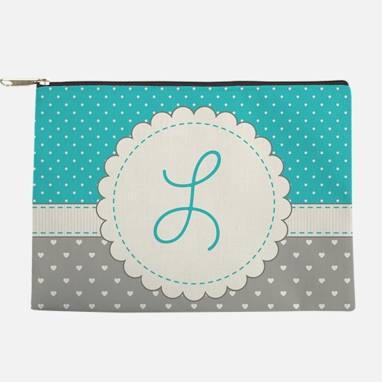 Cute Monogram Letter L Makeup Pouch