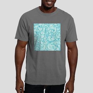 Waves Pattern Mens Comfort Colors Shirt