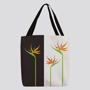 Bird of Paradise Flowers Polyester Tote Bag
