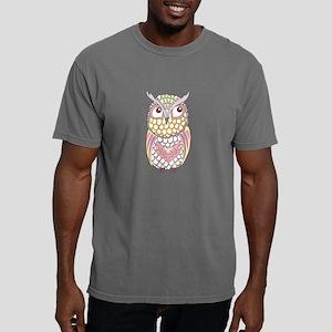 Colorful Owl Mens Comfort Colors Shirt