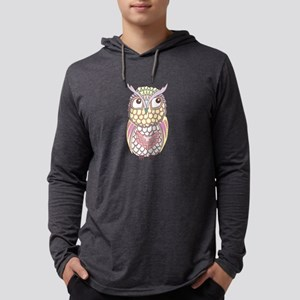 Colorful Owl Mens Hooded Shirt