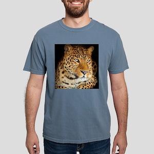 Leopard Portrait Mens Comfort Colors Shirt