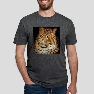 Leopard Portrait Mens Tri-blend T-Shirt