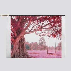Pink Tree Swing Makeup Pouch