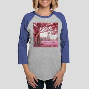 Pink Tree Swing Womens Baseball Tee
