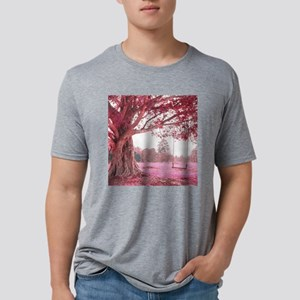 Pink Tree Swing Mens Tri-blend T-Shirt