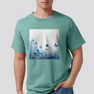 Flowers and Butterflies Mens Comfort Colors Shirt