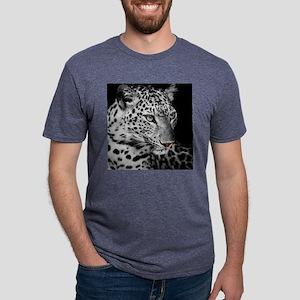 White Leopard Mens Tri-blend T-Shirt