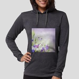 Flowers and Butterflies Womens Hooded Shirt