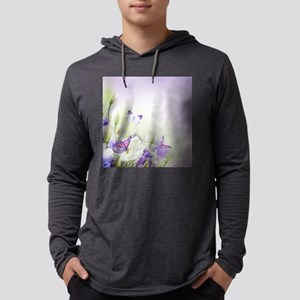 Flowers and Butterflies Mens Hooded Shirt