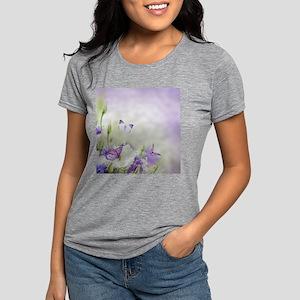 Flowers and Butterflies Womens Tri-blend T-Shirt