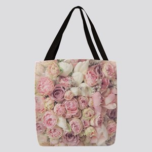 Roses Polyester Tote Bag
