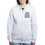 Weights heavy and squats down low Women's Zip Hood