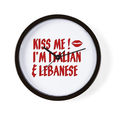 Kiss Me: Lebanese & Italian Wall Clock