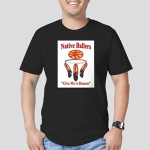 Native ballers - IndianBall Men's Fitted T-Shirt (