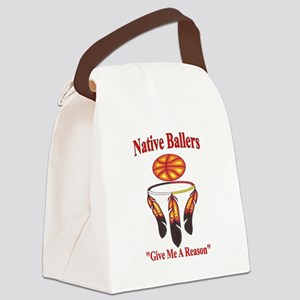 Native ballers - IndianBall Canvas Lunch Bag