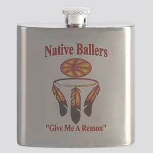 Native ballers - IndianBall Flask