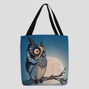 Night Owl Polyester Tote Bag