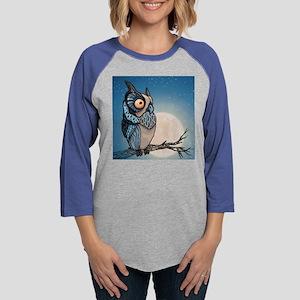 Night Owl Womens Baseball Tee