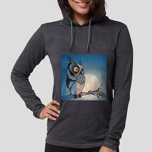 Night Owl Womens Hooded Shirt