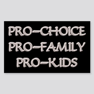 Pro-Choice, Family, Kids Rectangle Sticker