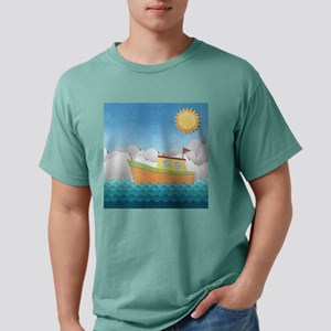 Paper Boat Mens Comfort Colors Shirt