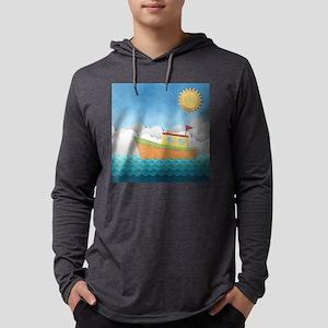 Paper Boat Mens Hooded Shirt