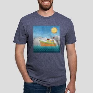 Paper Boat Mens Tri-blend T-Shirt