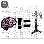 Your brain does not equal a hat rack Puzzle