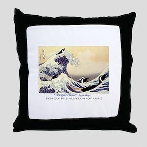 Penguin Wave Throw Pillow
