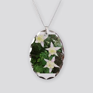 Columbines Necklace Oval Charm