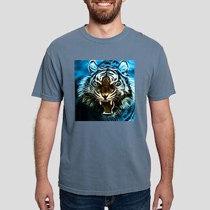 Fractal Tiger Art Mens Comfort Colors Shirt