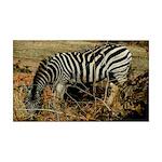 Zebra Safari Decor 35x21 Wall Decal