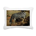 Zebra Safari Decor Rectangular Canvas Pillow