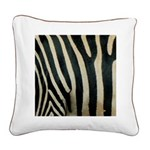 Zebra Safari Decor Square Canvas Pillow