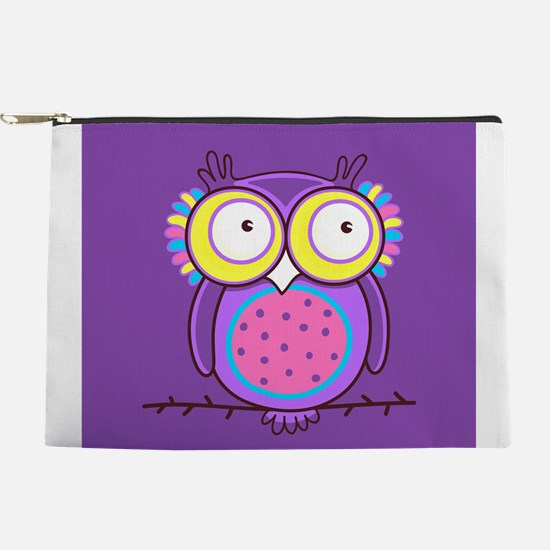 Colorful Owl Makeup Pouch
