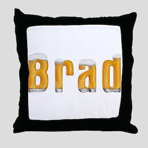 Brad Beer Throw Pillow