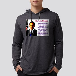 In Every Culture - Barack Obama Mens Hooded Shirt